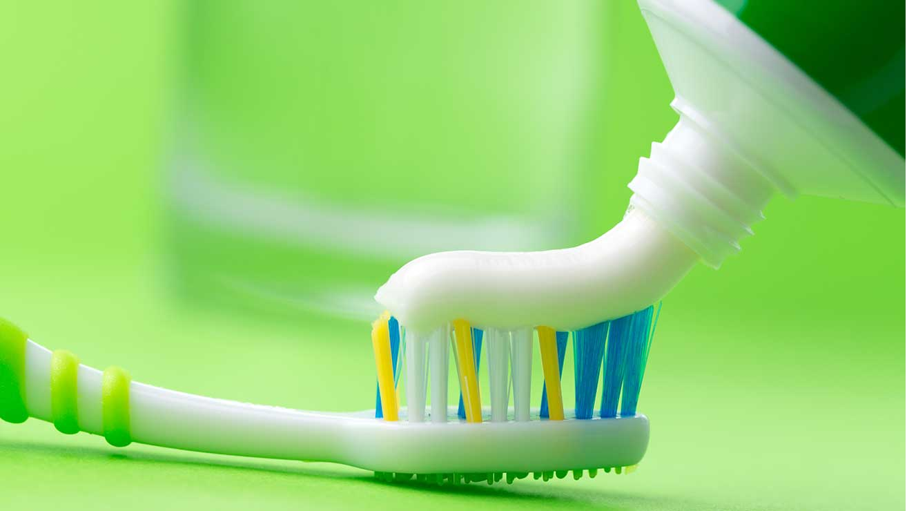 Prevent tooth problems with fluoride toothpaste