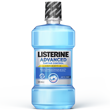 Listerine advanced tartar control teeth whitening mouthwash