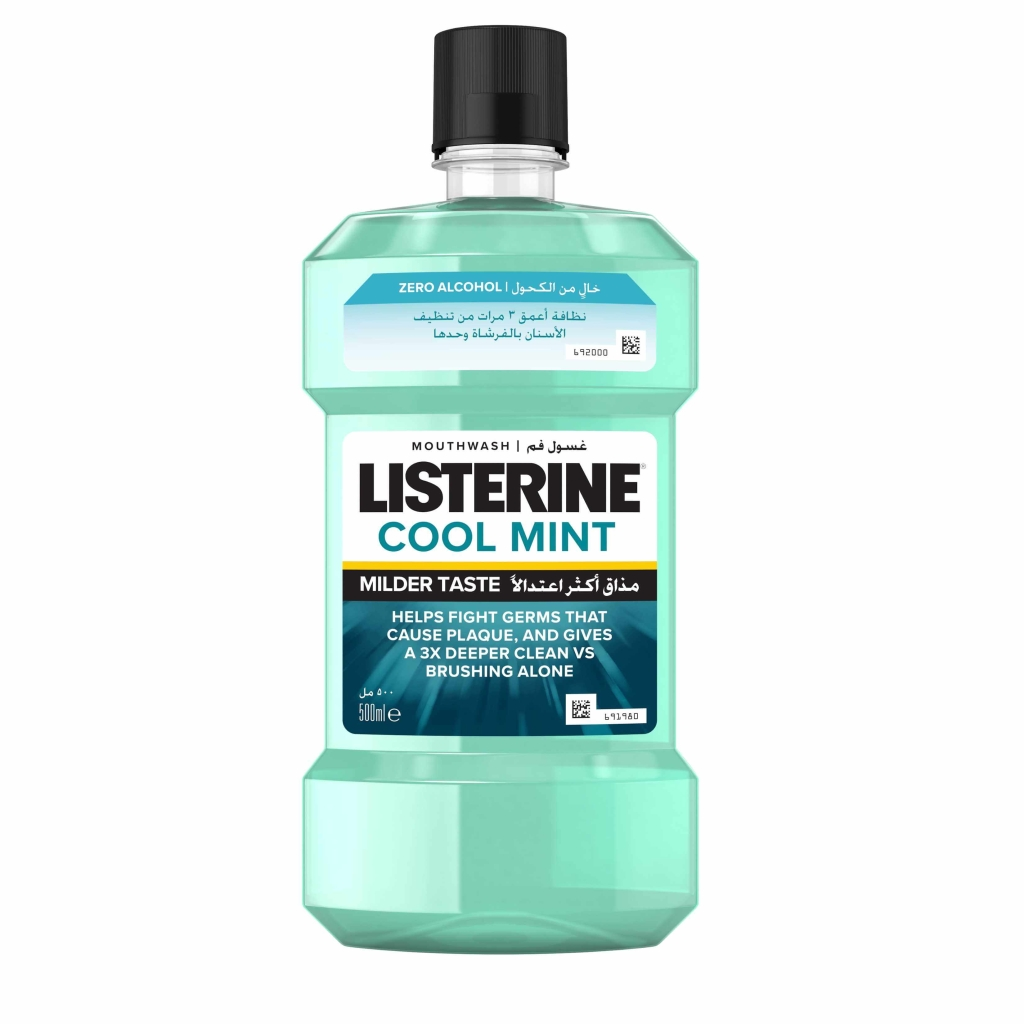 listerine cool mint milder mouthwash 500ml